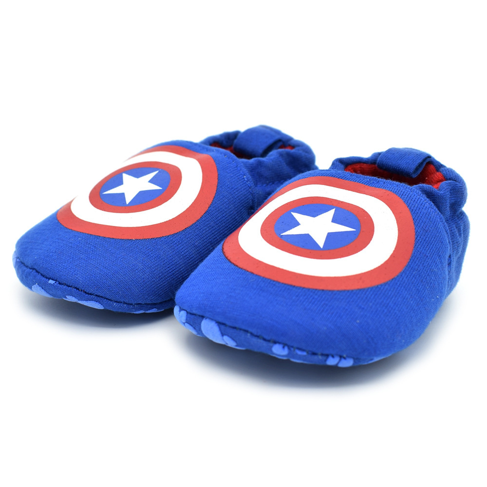 2017 Super Hero America Captain Pattern Baby First Walkers Shoes Soft Sole Anti Slip Toddler Brand Shoes Infant Canvas Sneakers