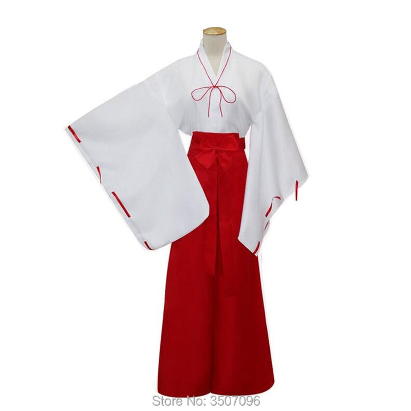 Inuyasha Kikyou Cosplay Costume Japanese Anime Kikyo Women Men Halloween Cosplay Party School Stage Dress Kimono Set