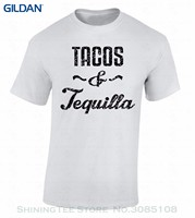 Black Cotton T Shirt Tacos And Tequila T Shirt Black Mexico Spanish Shirt Drinking Eating Top