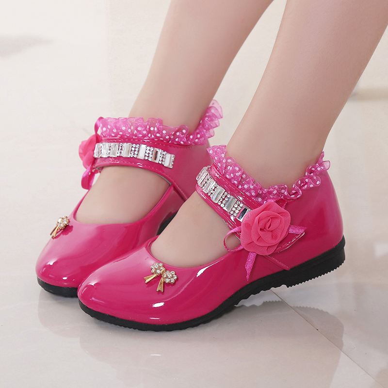 Kids sneaker Girls Dance Shoes PU Baby Princess Flat Flowers Single Shoes Spring Summer Autumn Children Student leather shoes kids sneaker girls dance shoes pu baby princess flat flowers single shoes spring summer autumn children student leather shoes