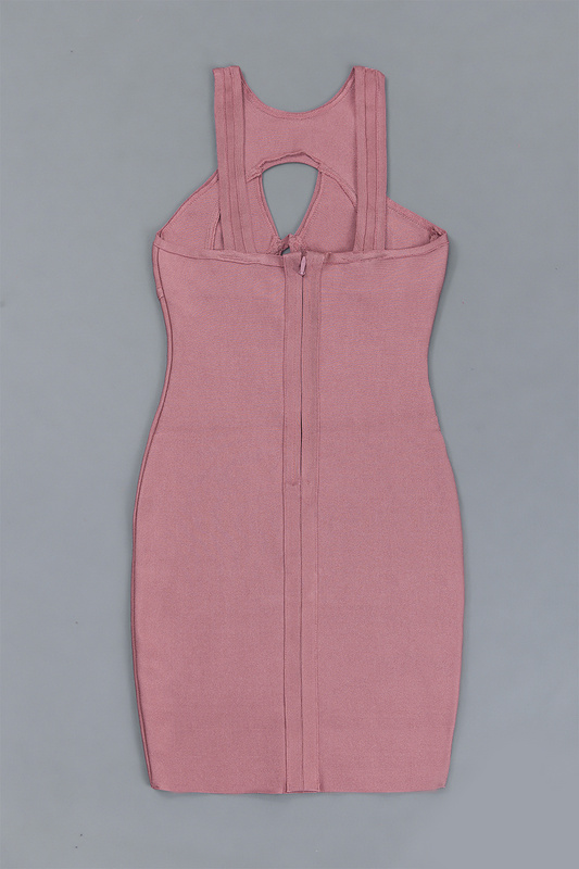keyhole wholesale pink rayon women top quality sexy women bandage dress   3