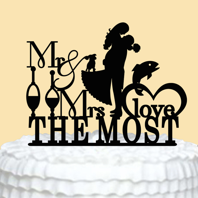 Romantic Personalized Wedding Cake Toppers ,Mr & Mrs Love Cake ...