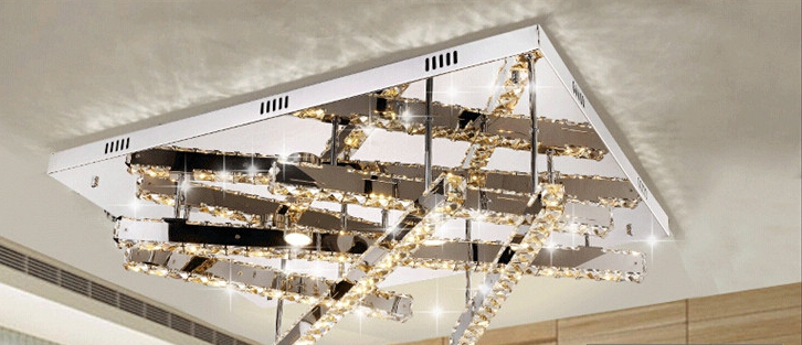 Free Shipping the living room lamp rectangle crystal lamp LED ceiling light цена