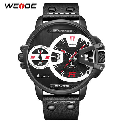 WEIDE UV1702 Hardlex Dual Time Analog Japan Movement Wrist Watches 3