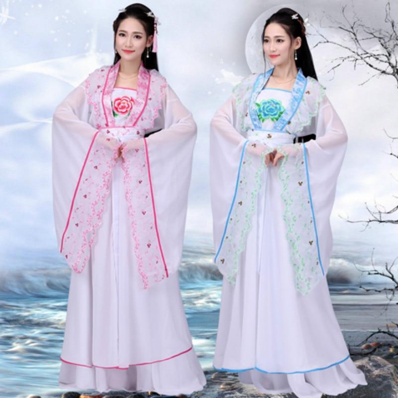 Female Hanfu New Elegant Fairy Costume Tang Suit Dynasty Royal Princess Ancient Qi Chest Dress