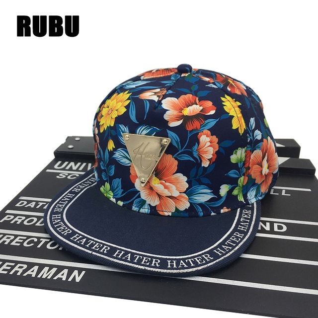 Vintage Snapback Hats >> Flower Snapback Baseball Cap Women Floral Snapback Hats For Women