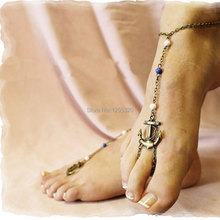 HOT SALE 100% Brand new and High quality Women Elegant Sexy Anchor Foot Jewelry Ankle Leg Bracelet Toe Anklet