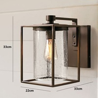 American Country Vintage Industrial Wall Light Nordic NEW Loft Outdoor Wall Lamp Glass Lamparas De Pared Retro Lighting Home