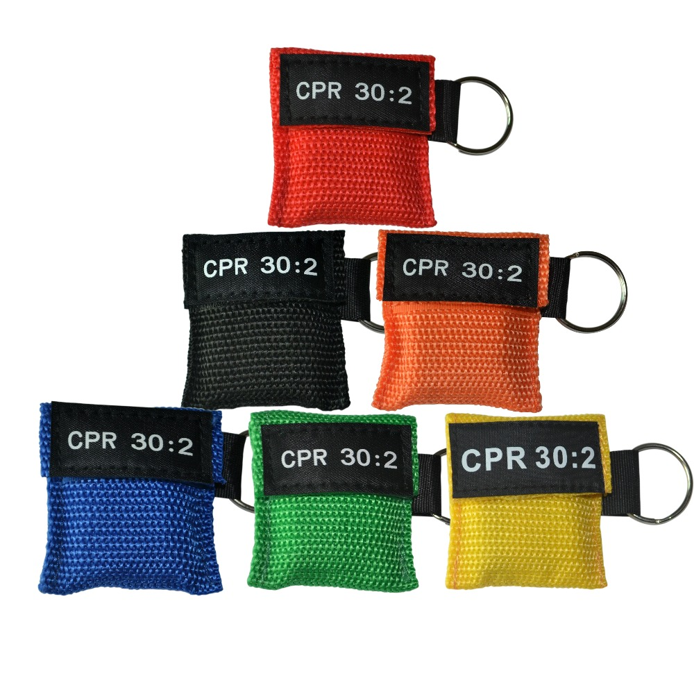 Optional Color 100Pcs/Lot CPR Mask CPR Face Shield CPR 30:2 With Keychain Ringr First Aid Training Mask Health Care Tool bix cpr100a electronic half body cpr and first aid training dummy w056