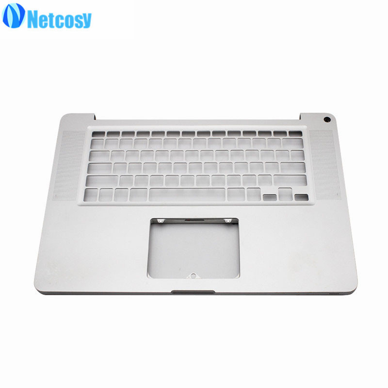 Netcosy 97% New A1286 Sliver Top upper Case laptop keyboard cover without key-board For Macbook Pro 15