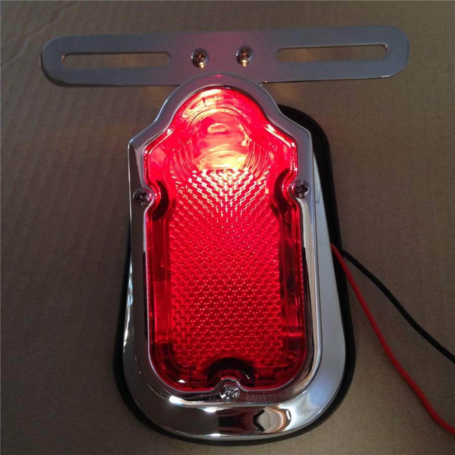 Aftermarket free shipping motorcycle parts Red Tombstone Brake Tail Light Signal For Harley Davidson Bike Chrome scooter parts 8pcs chrome speedometer gauges bezels and horn cover case for harley davidson touring free shipping