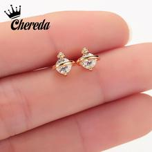 Chereda Minimalist Korean Style Planet Stud Earrings For Women Charm Girl Bijoux Studs Fashion Woman 2019