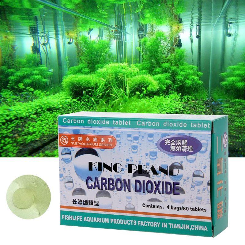 80Pcs Aquarium CO2 Tablet Carbon Dioxide For Plants Fish Tank Aquatic Diffuser Grass