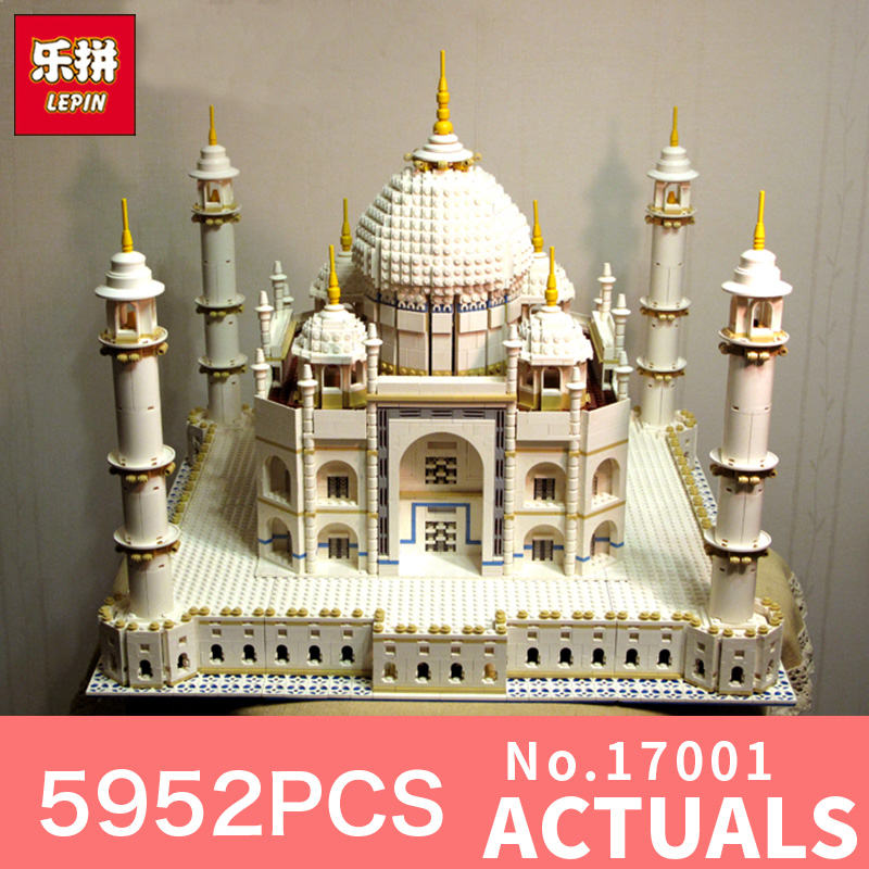 LEPIN 17008 17001 5972PCS The Tai Mahal Model Building Kits Brick Toys LegoINGlys 10189 Educational toy for Children DIY Gift lepin17001 city street tai mahal model building blocks kids brick toys children christmas gift compatible 10189 educational toys