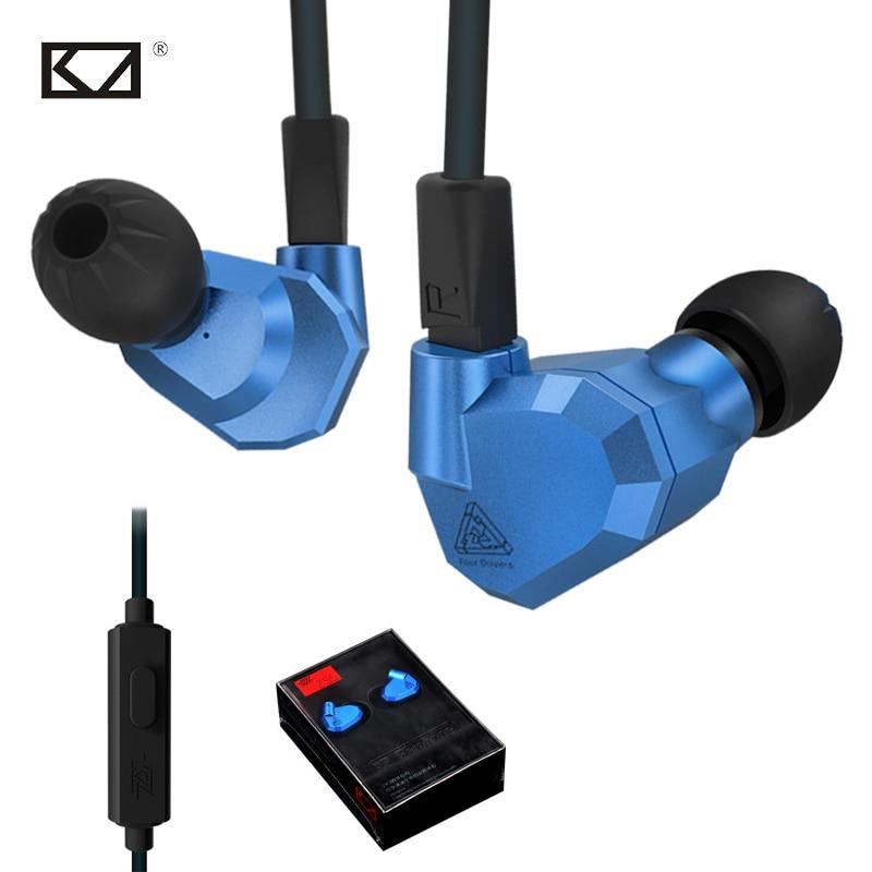 KZ ZS5 2DD 2BA New Hybrid In Ear Phone Earphone HIFI DJ Monitor Detachable Stereo Bass 3.5mm Running Sport Headphone with Mic kz zs3 detachable in ear sport earphones with mic for mobile phone hifi stereo earphone dj xbs bass headset runing earbuds