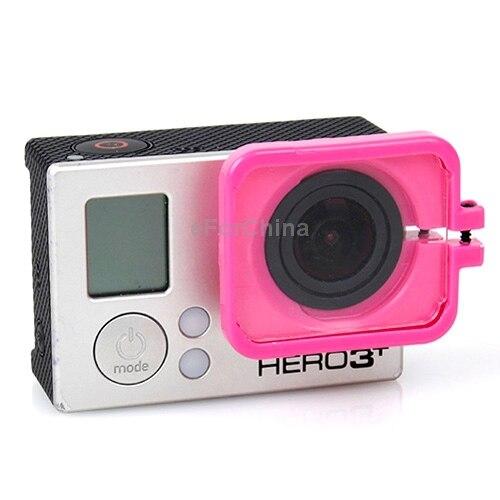 Горячая Продажа!! TMC Объектив Анти-воздействия Защитный Кожух для GoPro Hero 4/3 + Пурпурный Цвет