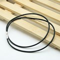 10 Pcs/pack 2/3mm Black Korean Version Cord Rope Chain Rubber Necklace Copper Clasp Jewelry Accessories