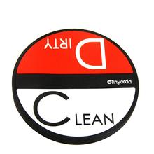50pcs/Lot  Dishwasher Magnet Clean Dirty Sign,3.54 Inch,Rubber Coating Prevents Scratches