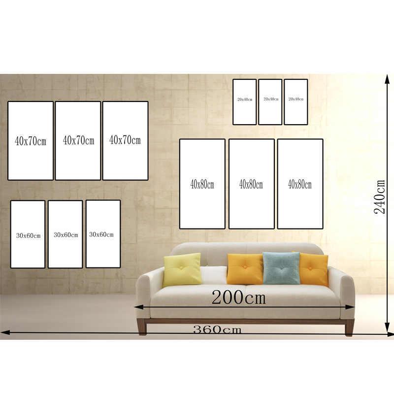 3 Panel de Mapa Del Mundo de la Acuarela Pintura HD Impresión en Lienzo Paisaje Pintura Sofá Modular De Pared Cuadros Arte Imagen For Living habitación