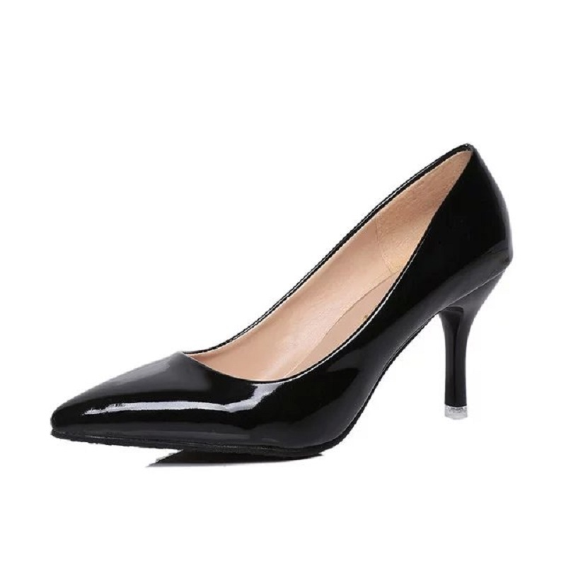 Heel White Prom Pumps New Classic Shoes High Party Black Wedding Sexy Pointed Thin Red Toe Women Fashion 2019 Pink Heels OXuikPTZ