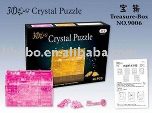 The new three-dimensional puzzle 3D stereoscopic 3D Gallery Crystal Gallery+free shipping &mixed design