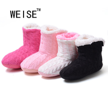 WEISE Free Shipping 2016 New Style Doe's Not Hurt The Floor Slippers At Home Knitting Wool Slippers In The Spring Autumn Winter