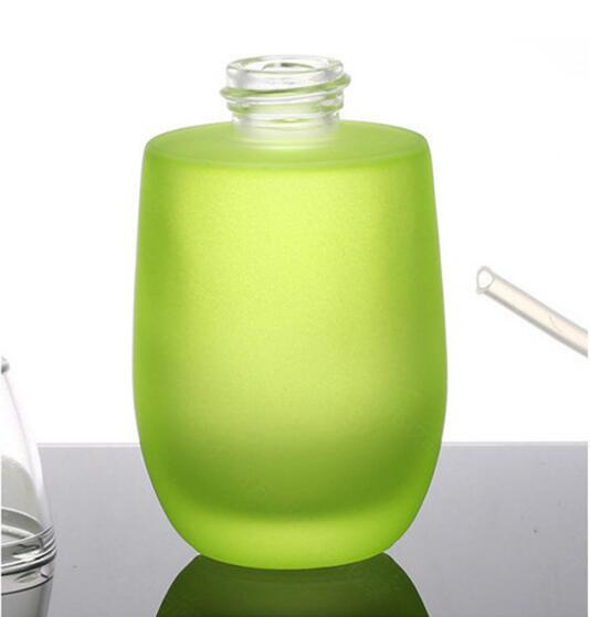 Skin Toner Suit Empty Bottle Silver Gold Carved lid Green Emulsion Bottle Glass Cream Lotion Pump 30ml 50ml 120ml 30g 50g (9)