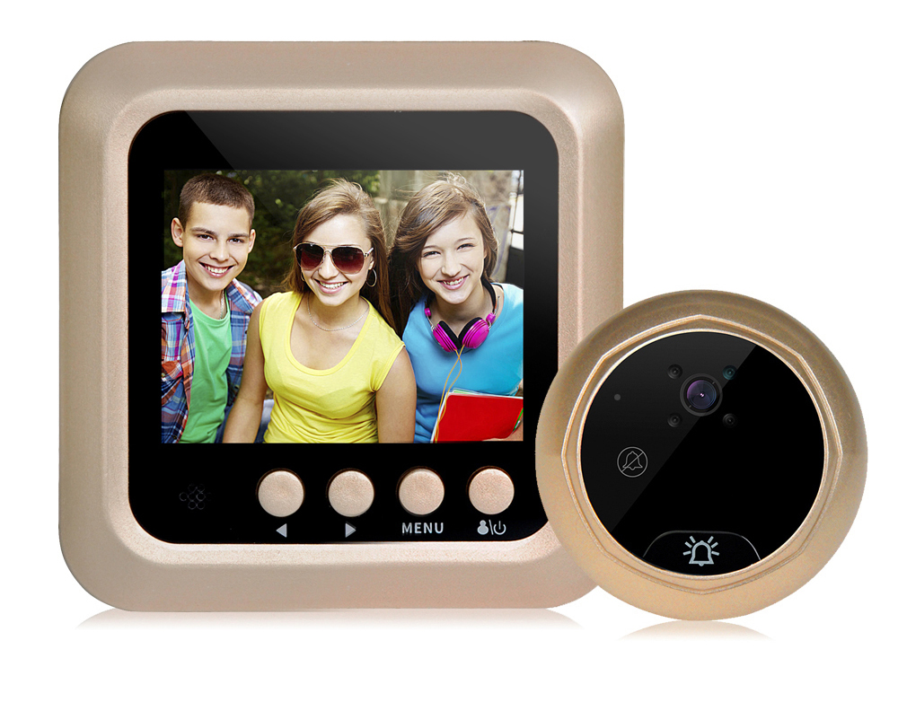 цена на 2.4 inches LCD screen digital door peephole viewer camera Night vision wide angle Video Record Photo shooting Doorbell Cam