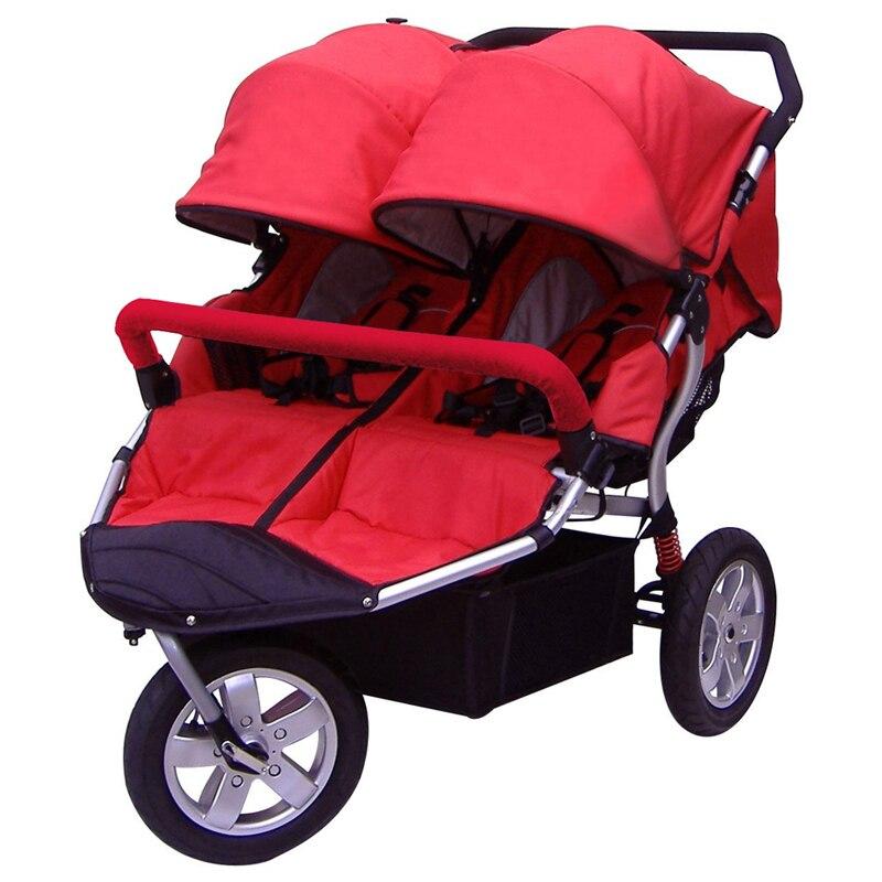 Babyboom off road twins baby font b stroller b font shock pneumatic wheels font b double