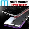 Meizu m5 nota parachoques original luphie increíble muy oxidado nota case dura de aluminio del metal para meizu m5 m2 nota