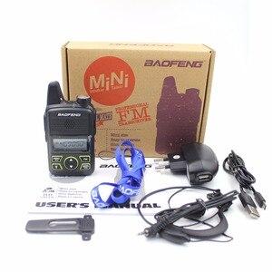 Image 5 - Baofeng BF T1 Mini Radio bidirectionnelle tenue dans la main UHF 400 470MHz 20CH FM talkie walkie avec écouteur ou + câble USB