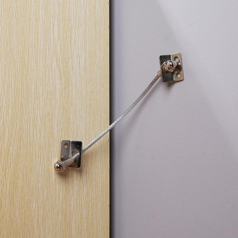 1 Set Anti Tip Furniture Anchors Safe Straps For Kids Cabinets Bookcase Dresser Lock Adjustable Door Cabinet Wardrobe Belt Strap