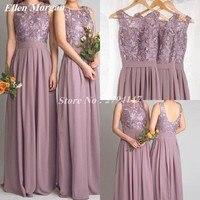 Cheap Lace Bridesmaid Dresses Long 2017 Designer Chiffon Beach Garden Wedding Party Formal Real Photo Vestido