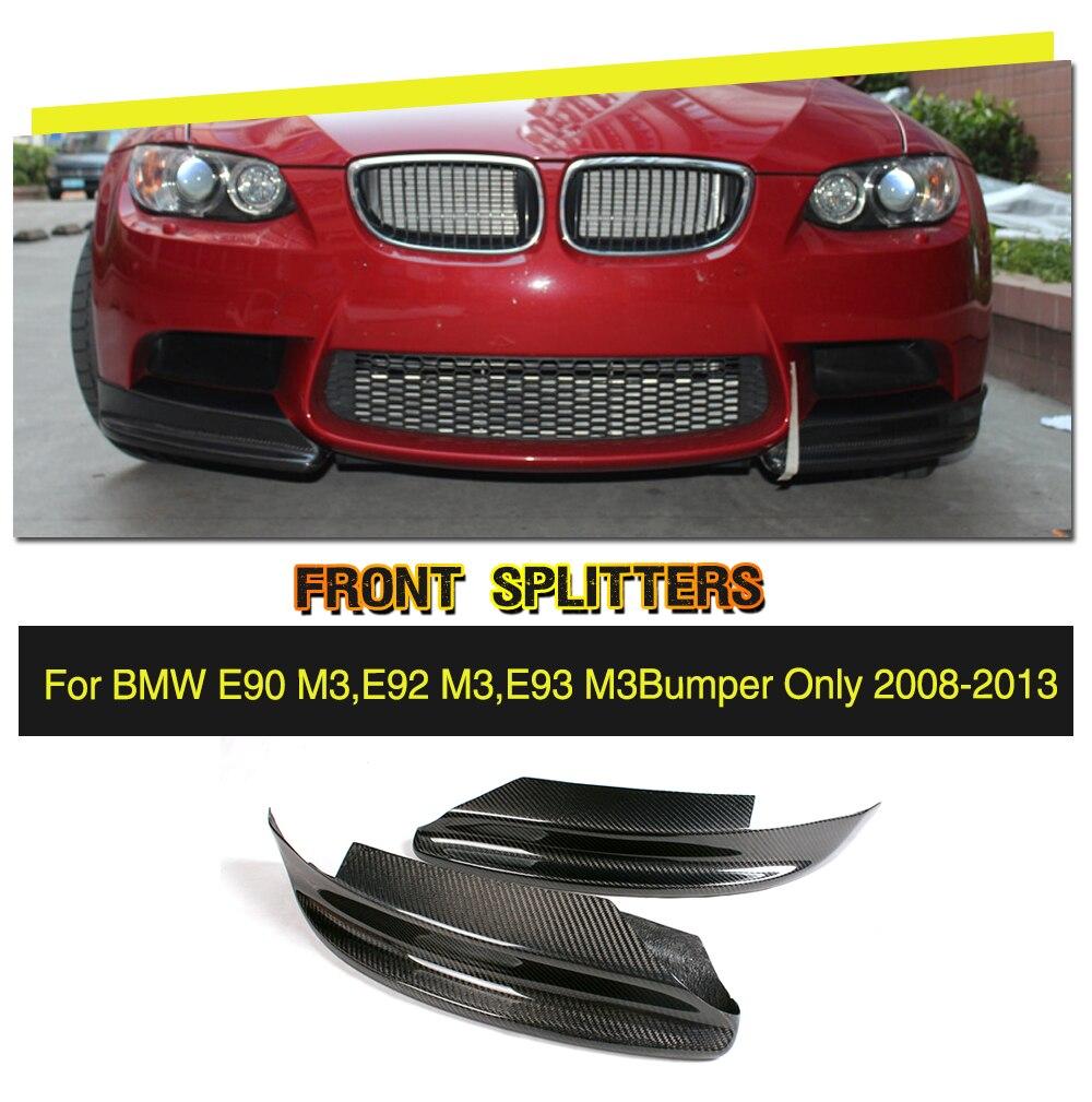 3 Series E90 E92 Carbon Fiber Front Splitters Lips for BMW E90 M3/E92 M3 Bumper Only 2008-2013