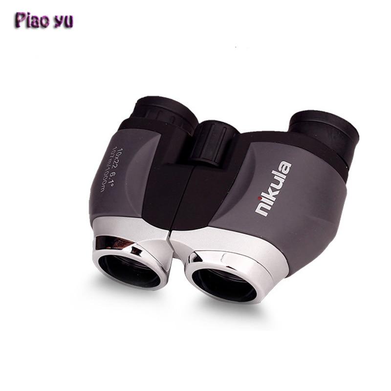 10X22 Optics pocket Binoculars Paul prism system Portable Hand Outdoor Hunting Spotting Scope Souvenir Fun For Children  цены