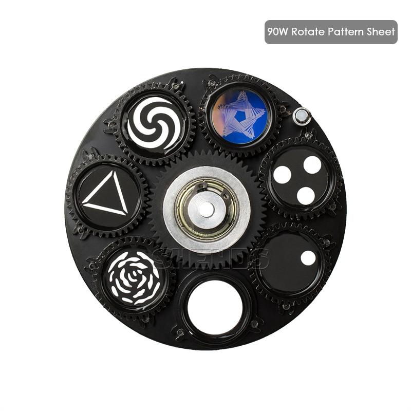 LED Gobo 90W Lighting Parts Lamp Pattern Sheet Gobo Wheel For  Professional Stage Lighting DJ Club