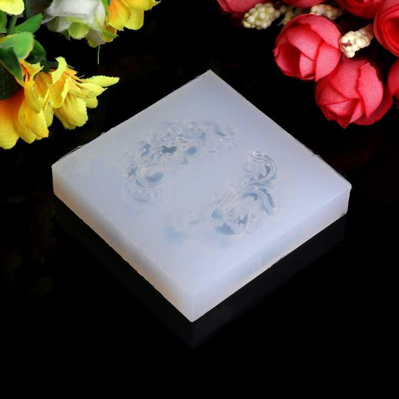 Прозрачный силиконовый кулон формы смолы нефритовые DIY ювелирных изделий инструмент помадка торт