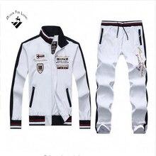 Design for living Nouveau 6 Couleurs Hommes Sportwear Costume Automne Printemps Sweat Hommes Survetement Taille M-XXL