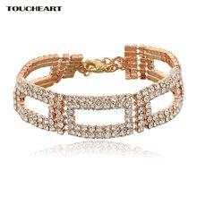 Toucheart роскошный бренд Золотые кристаллы регулируемые браслеты