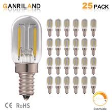 25pcs/lot T22 E14 LED Lamp 1W Grey Smoke Glass Tubular Night Light Bulbs 4000K 10 Watt Equivalent Edison Filament Dimmable Bulb