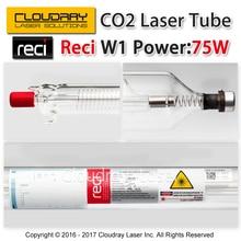 Cloudray Reci W1 75 Вт CO2 лазерной трубки деревянный корпус box упаковка Длина 1050 dia. 80 мм для CO2 лазерная гравировка Резка машины S1 Z1