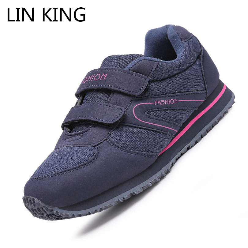 LIN KING Fashion Low Top Women Casual Shoes Spring Autumn Breathable Mother Single Shoes Comfortable Office Work Nurse Sneakers lin king women casual shoes leisure lace up wedge shoes fashion low top massage ankle shoes solid massage outdoor single shoes