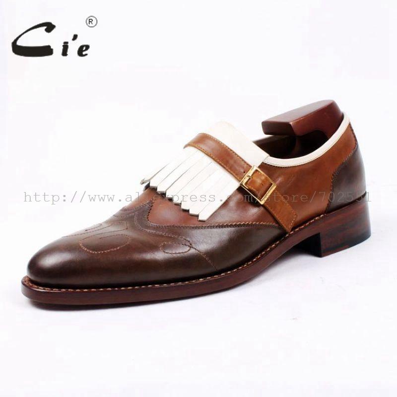 bc69c1bae5259 Cie Livraison Gratuite Main Glands Boucle Mocassins Brun Blanc  Correspondant Veau En Cuir Bas Semelle Hommes Chaussures 3 Artisanat  Loafer66 dans Chaussures ...