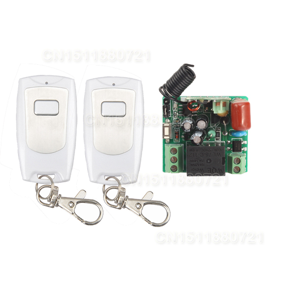 smart switch 1Channel Wireless Relay 220V Remote Control Light Switch RF Mini Receiver With 2pcs Transmitter