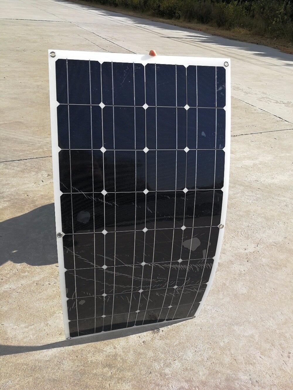 Semi Flexible 100 Watt Solar Panel 12v High Efficiency