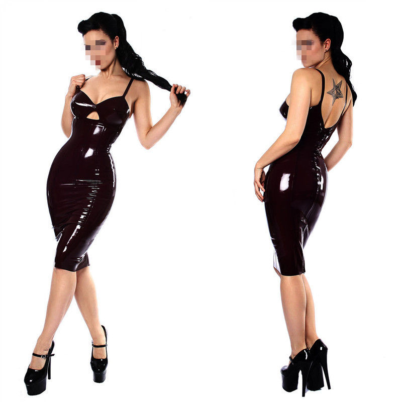Buy Black Leather Lingerie Sexy Body Suits Women PVC Erotic  Costumes Latex Bodysuit Catsuit 2017 women leather dresses