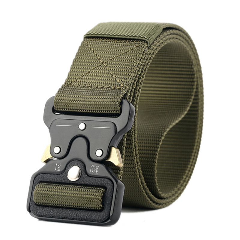 Elastic Canvas Tactical Belts For Men High Quality Army Military Male Waist Belt Harness Automatic Wide Corset Belt Ceinture