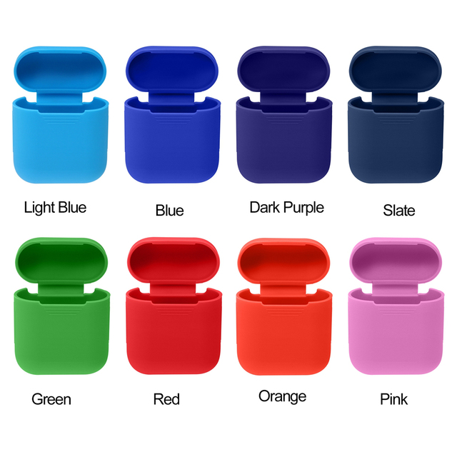 factory price af392 6c67a US $0.94 37% OFF|Protective Silicone Case Skin Cover for Apple AirPods  Wireless Headphone Charging Case Shock Proof Protector -in Earphone  Accessories ...