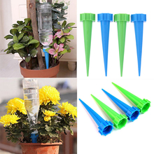 4Pcs Automatic Watering Irrigation Houseplant Spikes Garden Cone Watering Spike Plant Potted Flower Waterers Bottle Irrigation cheap Sprinklers Watering Devices as pic show 4 installed automatic watering device
