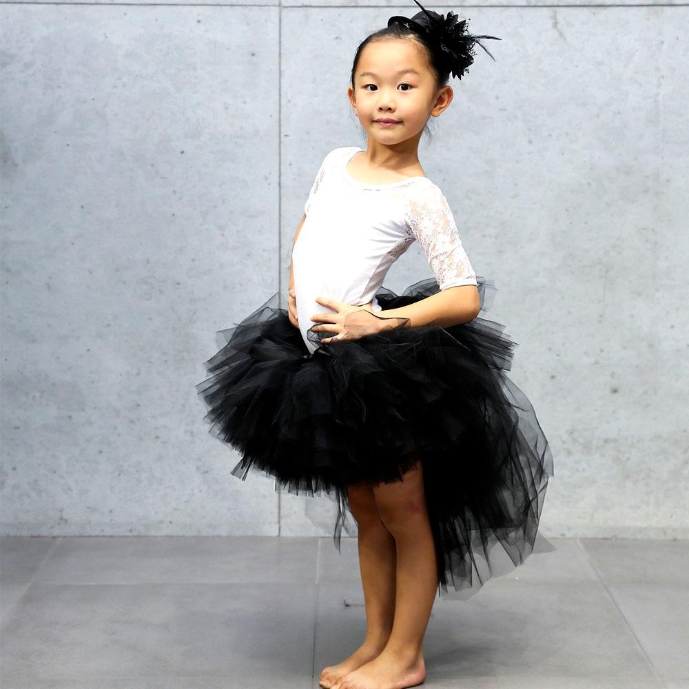 Trailing Baby Girl Tulle Tutu Skirt Girls Black Fluffy Unicorn ...